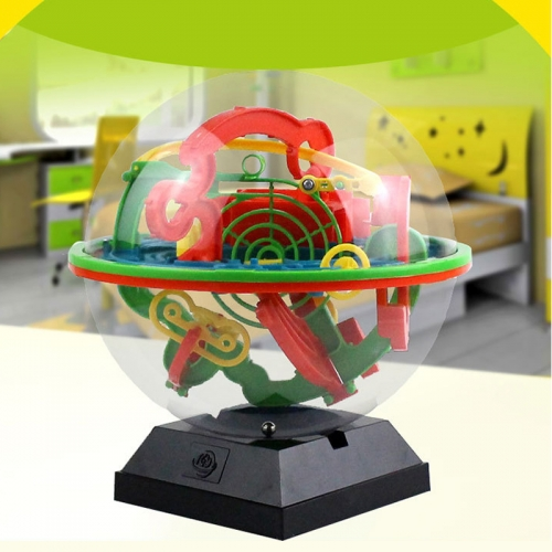 3D Maze Ball puzzle with 100 challenging obstacles, educational children's toys